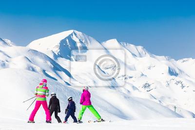 obrazplakat-rodzina-na-wakacjach-narciarskich-z-gory2